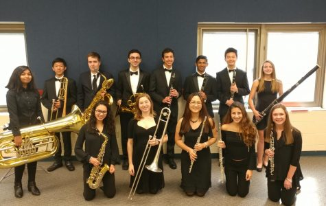 High school band students perform at honor band concert