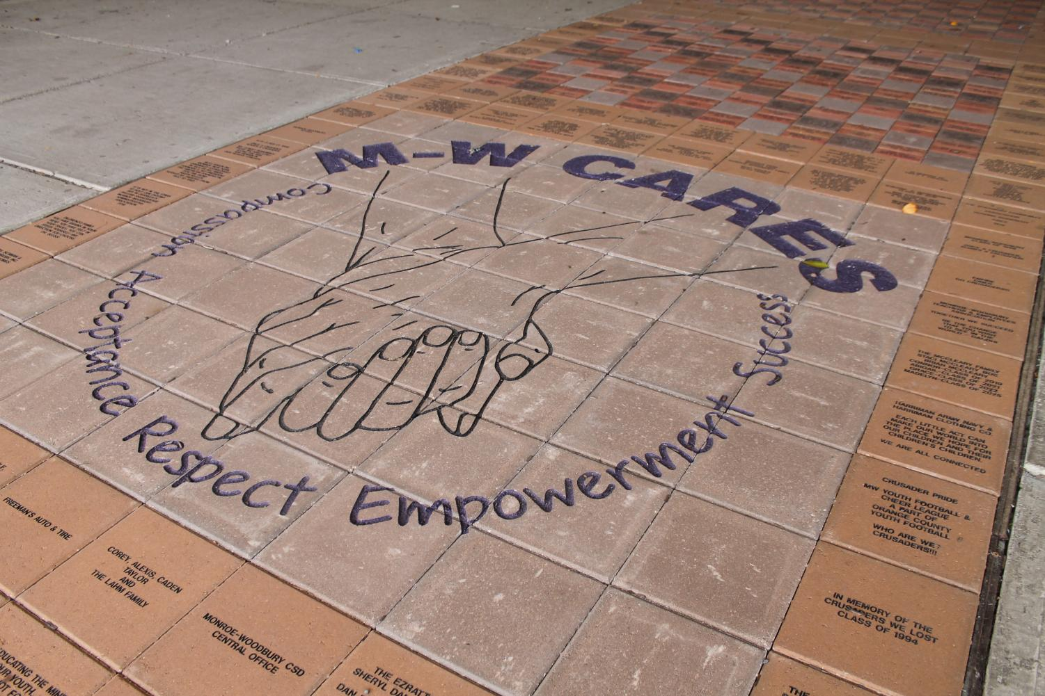 The new walkway out front sold personalized bricks as part of a fundraiser for M-W CARES.
