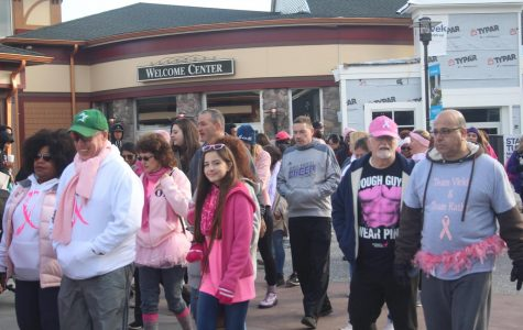 Students and staff participate in annual breast cancer awareness walk