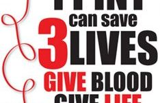 Students donate to blood drive in November