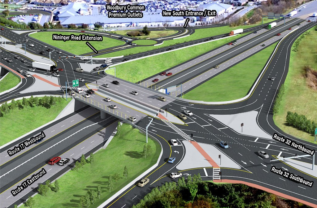 How Exit 131 will look after the construction work is finished. The project is expected to be done in fall of 2019.