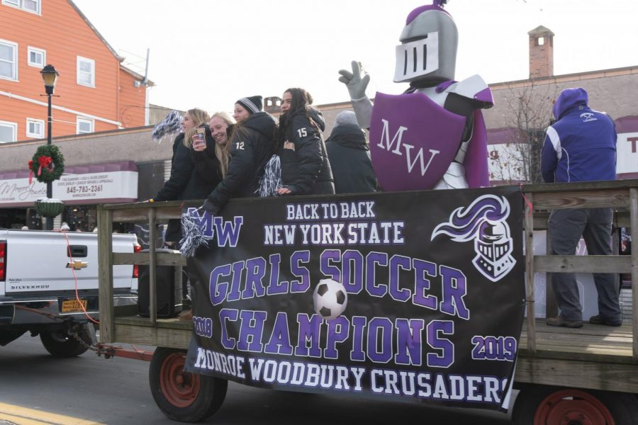 On+Sunday%2C+December+8%2C+the+community+gathered+to+show+their+support+for+the+girls+soccer+team+after+they+won+their+second+consecutive+state+championship.