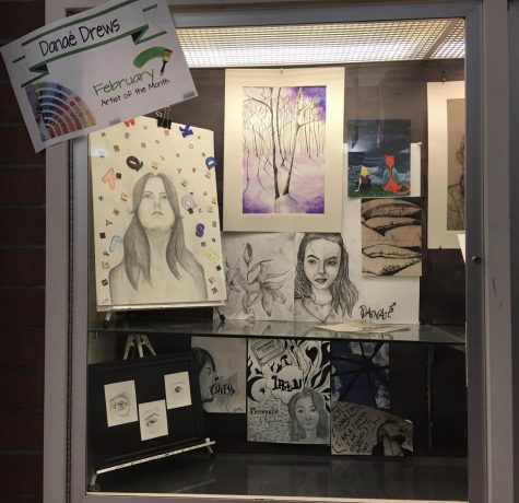 February artist of the month Danae Drews will be one of artists displayed during this year