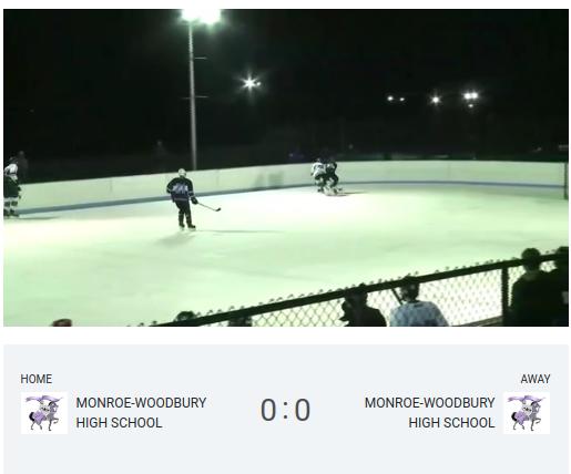 The most recent game streamed: Boys Varsity Ice Hockey, Purple v. White