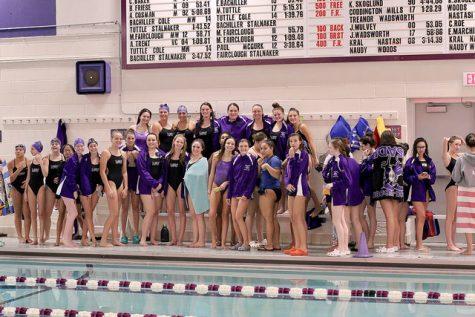 Girls varsity swim team competes at Section IX swim championships