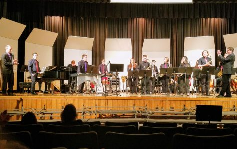 High school winter concert finishes with jazz ensemble