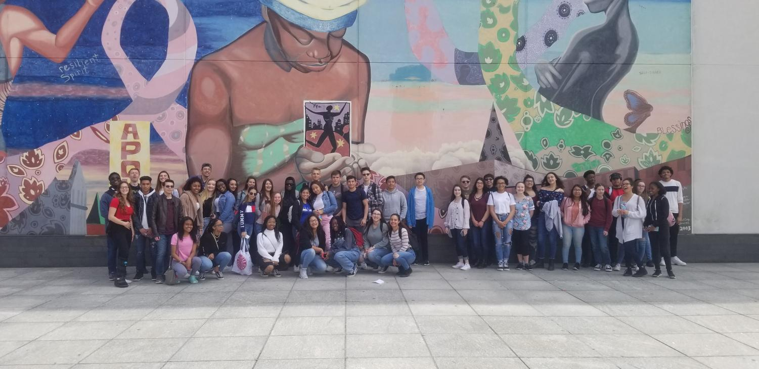 As part of the 11th grade Humanities curriculum, students attend a field trip to NYC to visit the Apollo Theater and the Tenement Museum.