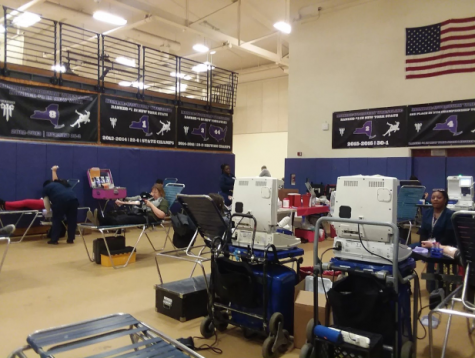 Blood drive was held in high school in March