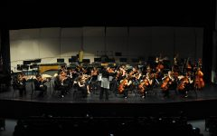 This year, for the first time, music department concerts will be held virtually. This image shows a past year's concert that was held in person.