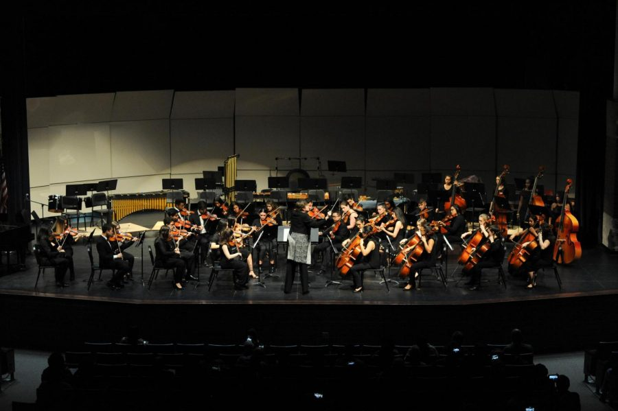This year, for the first time, music department concerts will be held virtually. This image shows a past years concert that was held in person.