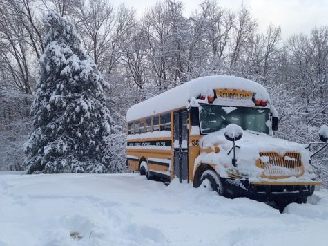 A common challenge during winter storms is making sure the buses are clear of snow in time for school to start.