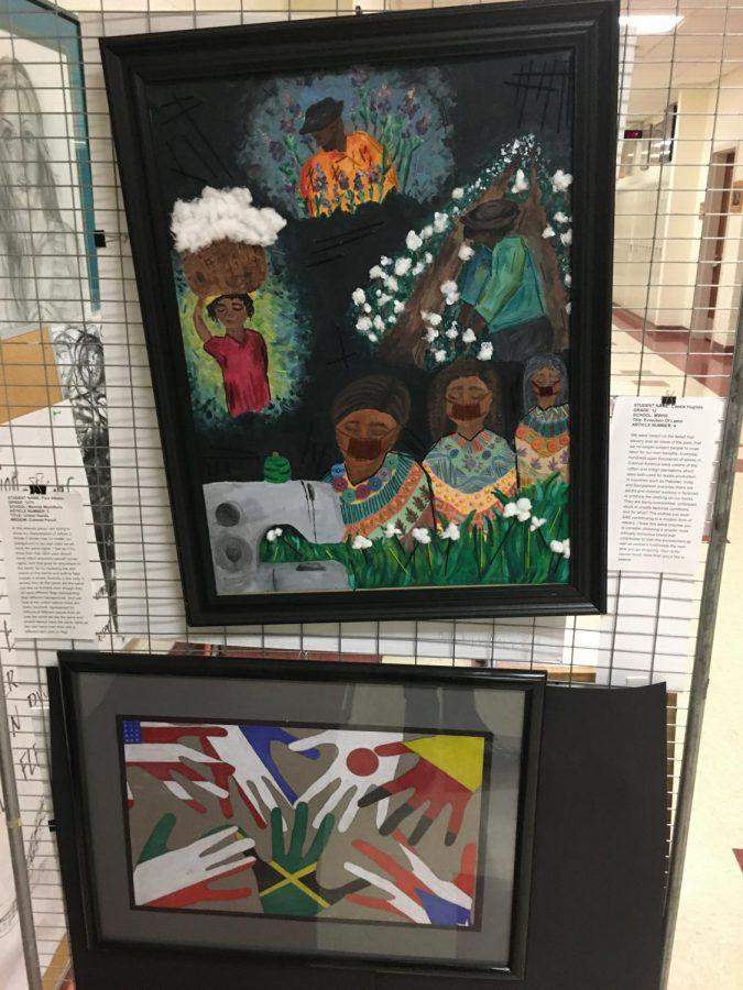 Senior Art Majors Participate in Human Rights Exhibit at SUNY Orange